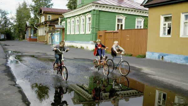На одной из улиц Городца