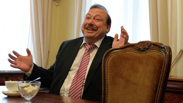 Пресс-конференция кандидата на пост губернатора Подмосковья Геннадия Гудкова