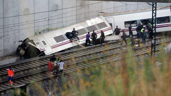 Крушение поезда в Испании