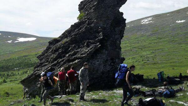 Туристическая группа ПГНИУ на перевале Дятлова