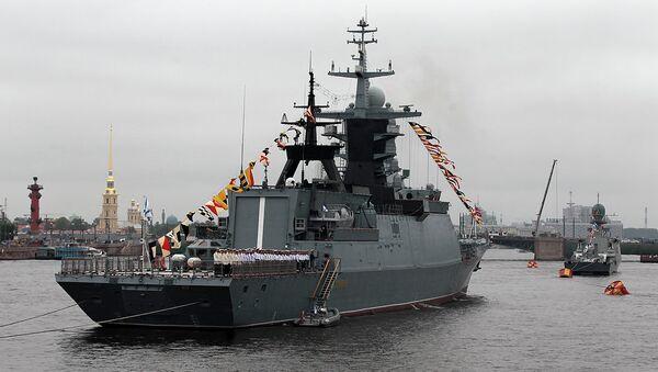 Репетиция парада ко Дню ВМФ в Петербурге. Архивное фото.