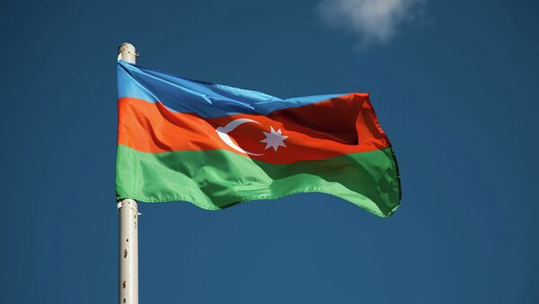Флаг Азербайджана, архивное фото