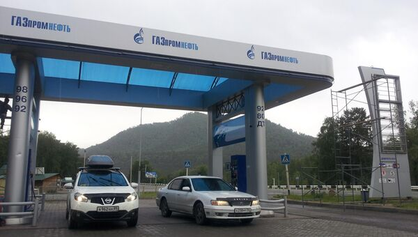АЗС на Алтае использовала фирменный стиль Газпромнефть-Новосибирск