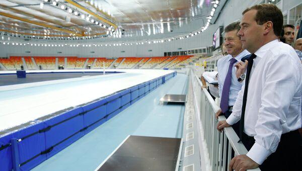 Д.Медведев посетил олимпийские объекты в Сочи