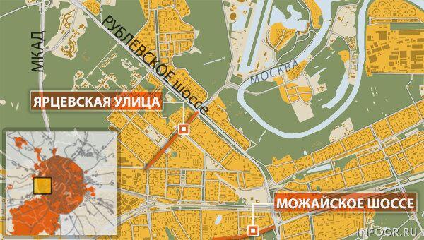 Стреляющий автомобиль задержали на западе Москвы