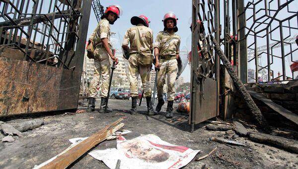 Последствия столкновений в Каире