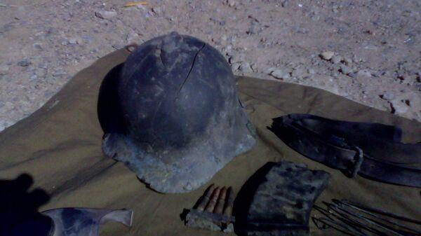 Останки солдата Красной Армии, найденные в Хасане