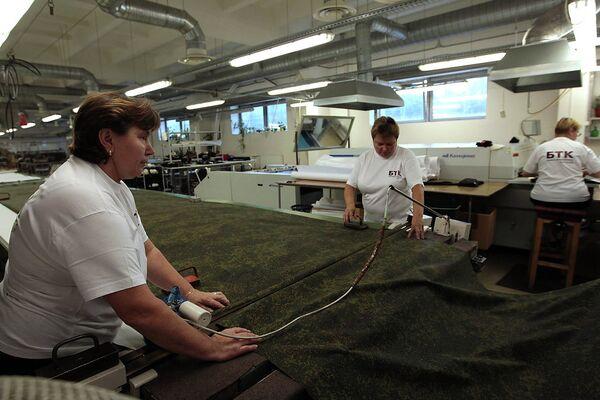 Работа цеха по производству новой полевой формы