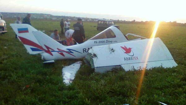 Легкомоторный самолет жестко сел в Удмуртии