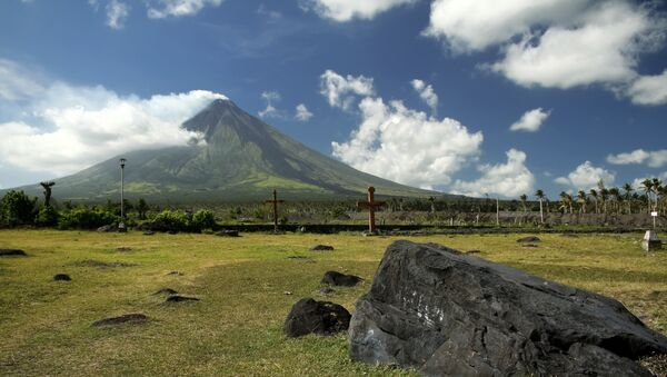 Вид на вулкан Майон