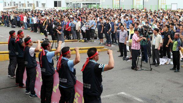 Забастовка рабочих Hyundai Motor в Южной Корее