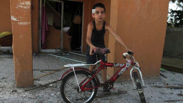 Раненый сирийский ребенок