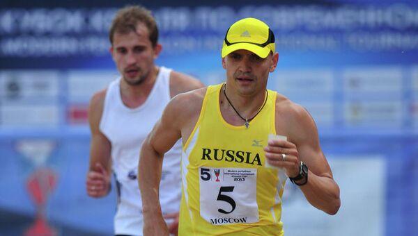 Пятиборец Илья Фролов на дистанции Кубка Кремля
