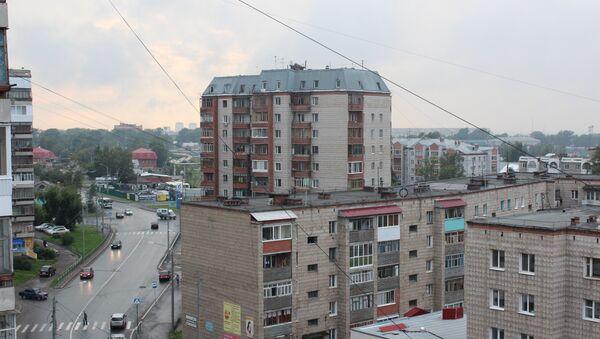 Дождливая погода в Томске, архивное фото