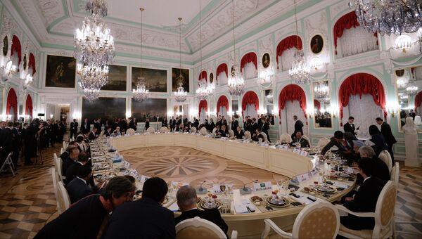 Рабочий обед участников саммита Группы двадцати
