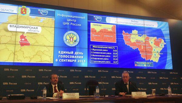 Иллюстрация голосования на 15 часов по Владимирской области