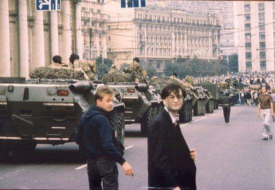 Дмитрий Волчек, Москва, Манежная площадь, 19 августа 1991 года