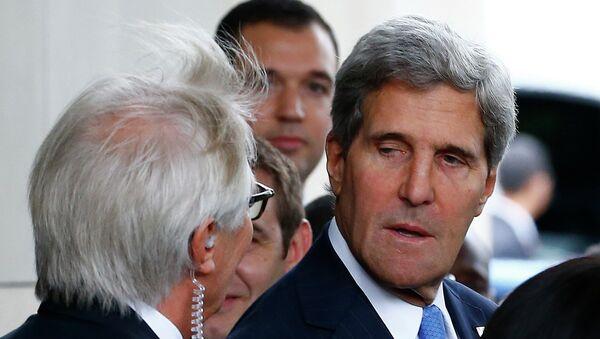 Госсекретарь США Джон Керри перед переговорами с главой МИД РФ Сергеем Лавровым