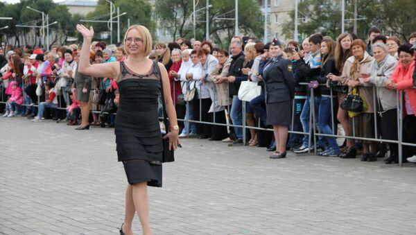 Актриса Ирина Мазуркевич на открытии фестиваля Амурская осень, фото с места события