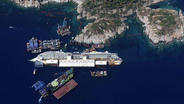 Операция по подъему круизного лайнера Costa Concordia