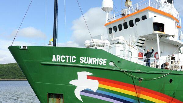 Судно Greenpeace Арктик Санрайз, архивное фото