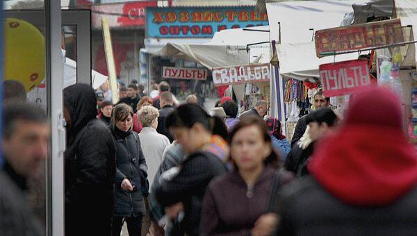 Гусинобродский рынок в Новосибирске, архивное фото