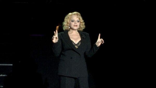 Лариса Долина в образе мамы Мортон спела арию на репетиции мюзикла Чикаго