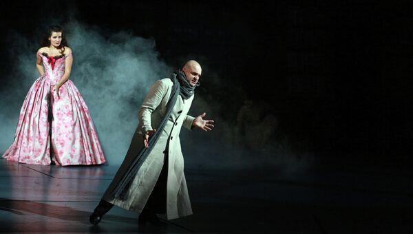 Сцена из спектакля Тангейзер