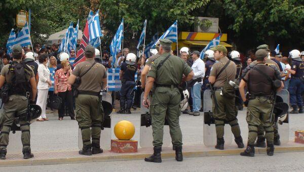 Митинг неонацистов возле Афинского суда. Архивное фото