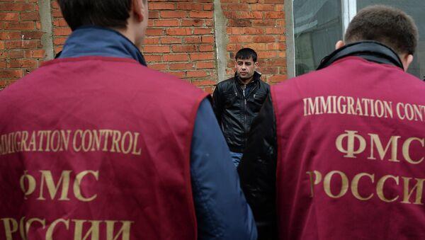 Рейд ФМС по выявлению нелегальных мигрантов в Москве. Архивное фото