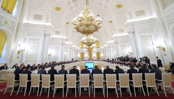 4 октября 2013. Заседание Государственного совета РФ в Кремле