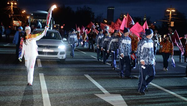 Эстафета Олимпийского огня. Москва. День 1. Архивное фото
