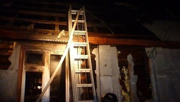 Пожар в городе Ивдель Свердловской области. Фото с места события
