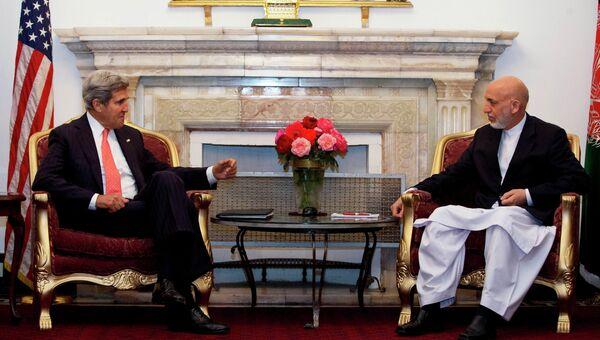Встреча Джона Керри и Хамида Карзая