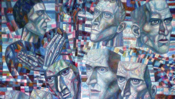 Павел Филонов Ударники (Мастера аналитического искусства). 1934 - 1935 гг.