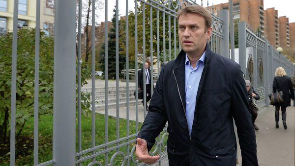 Оппозиционер Алексей Навальный. Архивное фото