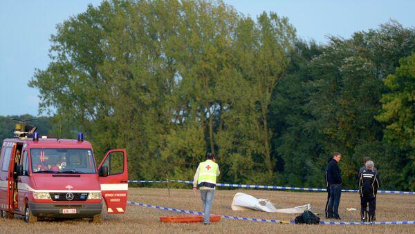На месте крушения самолета с парашютистами в Бельгии