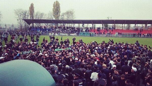 Беспорядки футбольных болельщиков в Назрани
