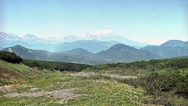 Вид на Жупановский вулкан. Архивное фото