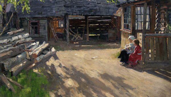 А. Б. Лаховский. На солнышке. 1915 год