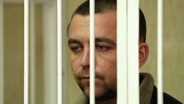 Экс-инспектор ДПС Алексея Мозго во время судебного заседания, архивное фото