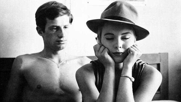 Кадр из фильма На последнем дыхании, 1960.