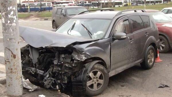 Последствия массового ДТП с участием Bentley, в салоне которого нашли гранату