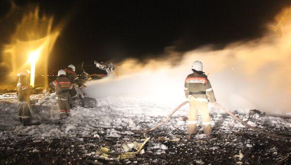 В аэропорту Казани разбился пассажирский самолет, фото с места события