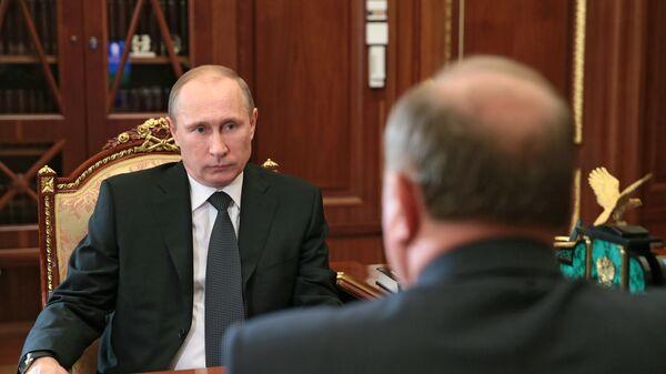 Встреча Владимира Путина и Геннадия Зюганова