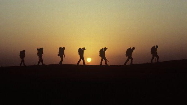 Сухопутная экспедиция. Архивное фото