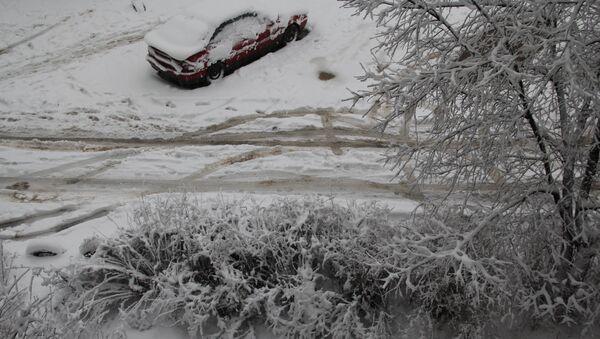 Снегопад в Костроме, 26 ноября 2013 года