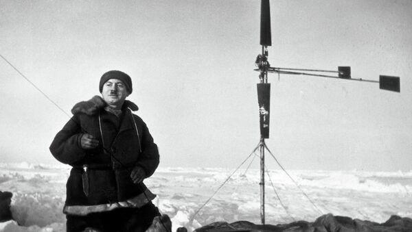 Папанин Иван Дмитриевич, начальник станции Северный полюс–1, архивное фото