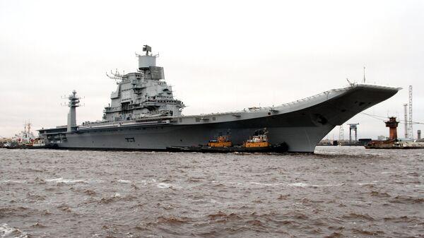 Индийский авианосец Викрамадитья покинул Северодвинск
