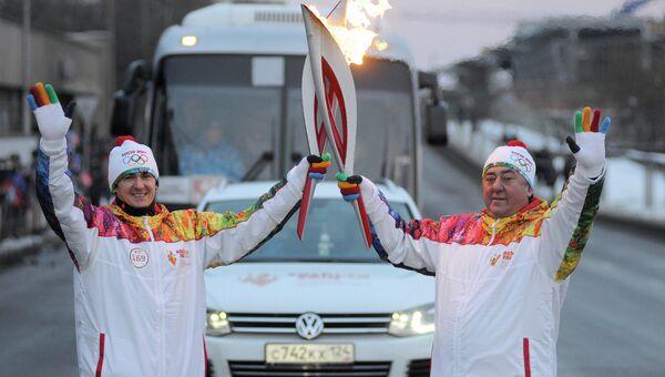 Эстафета олимпийского огня в Красноярском крае, событийное фото